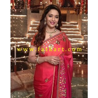 Madhuri Dixit Designer Red Saree