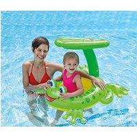 Intex Froggy Friend Shaded Baby Float Raft Swimming Pool Lounge Float Sunshade