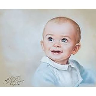 Painting of Small Boy Smile