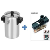 Buy 2Ltr Stainless Steel Milk Boiler Cooker & Get Ganesh Compact Slicer Free
