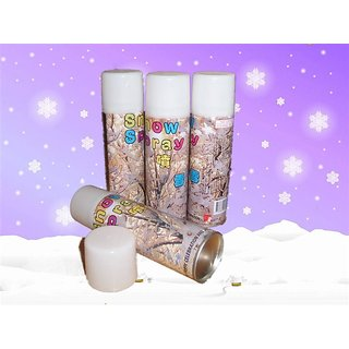 Xmas Party Snow Spray Can Set Of 2