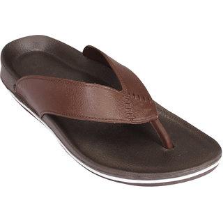 Clymb Mens Brown Flip Flops