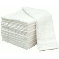 Bpitch Cotton Soft Kitchen Towels-White Set of 12