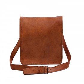 pranjals house vintage handmade leather laptop messenger sling bag