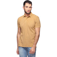 Goat Solid MenS T-Shirt Slim Fit Polo Neck (GMPO001BG)