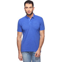 Goat Solid MenS T-Shirt Slim Fit Polo Neck (GMPO001BL)
