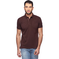 Goat Solid MenS T-Shirt, Slim Fit Polo Neck (GMPO001BR)