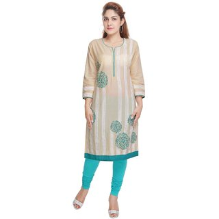 RajLaxmi Lovely Brown Printed Cotton Kurti