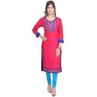 RajLaxmi Jaipuri Designed Red Rayon Kurti