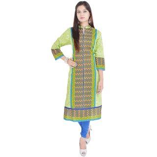 RajLaxmi Jaipuri Printed Multicolor Cotton Kurti