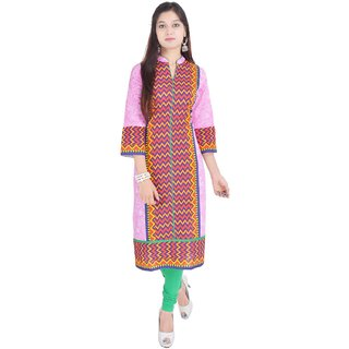 RajLaxmi Multicolor Jaipuri Printed Cotton Kurti