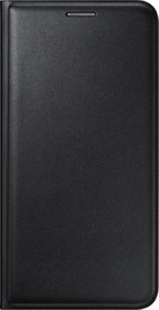 Snaptic Exclusive Black Leather Flip Cover for Vivo Y31
