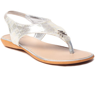Msc WomenS-Silver-Synthetic-Flats (MSC-9-235-FLATS-SILVER)