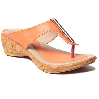 Msc WomenS-Orange-Synthetic-Heels (MSC-37-394-HEELS-ORANGE)
