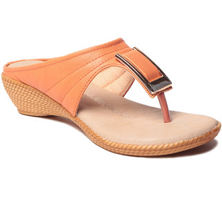 Msc WomenS-Orange-Synthetic-Heels (MSC-37-567-HEELS-ORANGE)