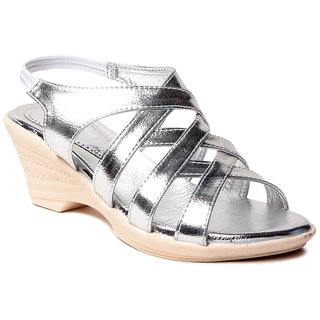Msc WomenS-Silver-Synthetic-Wedges (MSC-259-1121-Wedges-SILVER)