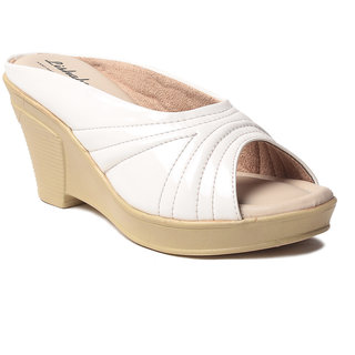 Msc WomenS-White-Synthetic-Wedges (MSC-259-6207-Wedges-WHITE)