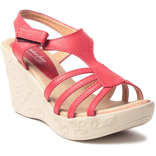 Msc WomenS-Red-Synthetic-Wedges (MSC-259-912-Wedges-RED)