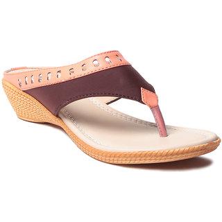 Msc WomenS-Peach-Synthetic-Heels (MSC-11-16144-HEELS-PEACH)