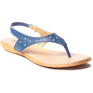Msc WomenS-Blue-Synthetic-Flats (MSC-9-234-FLATS-BLUE)