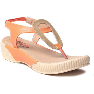 MSC Women's Orange Sandals