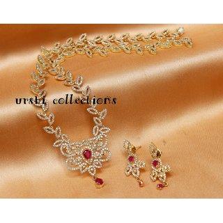 Gorgeous gold plated CZ necklace set