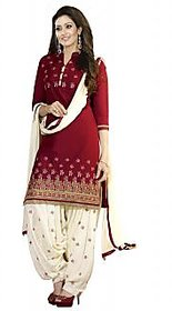 Aashvi Creation Womens Cotton Embroidered Unstitched Salwar Suit Dress Material-(1069)