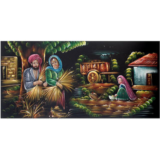 Cloth Hand Painting- Dnyaneshwar-Rukmini-Vitthal