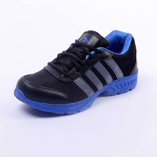 Foot 'n' Style Comfortable Black & Yellow Sports Shoes (fs428)