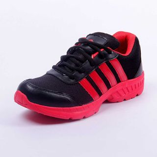 Foot 'n' Style Comfortable Black & Yellow Sports Shoes (fs429)