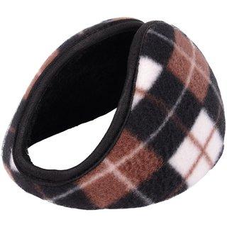 Unisex Winter Warmer Pad Fleece Cover Ear Warmer Back Earmuffs Black (Kanpatti)