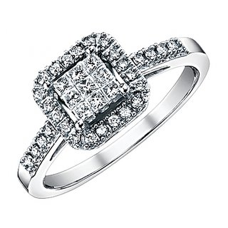 Tishya Silver C.Z. Diamond Ring