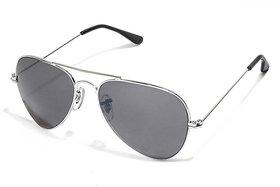 Vespl Black UV Protection Aviator Men Sunglasses