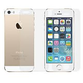Apple i phone 5 5s front  back tempered glass