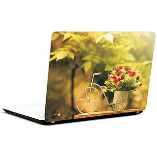Pics And You Flowers N Cycle 3M/Avery Vinyl Laptop Skin Decal-Ab085