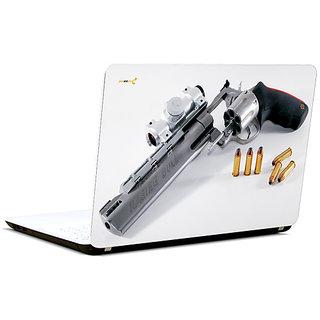 Pics And You Gun N Bullet 3M/Avery Vinyl Laptop Skin Decal-Ab075