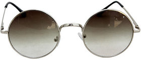 Derry Brown Round Uv Protection Sungalss For Men -Au0070