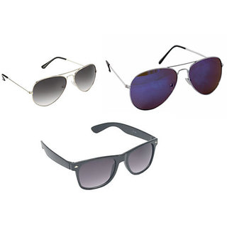 96b2261c8e6 Buy Derry Black UV Protection Aviator Unisex Sunglasses Online - Get 82% Off
