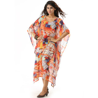 Tempting and Significant Digital Print Floor Length Kaftan