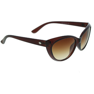 Vast  Women Brown Non-Metal Stylish Sunglass jaspercateye7232brown