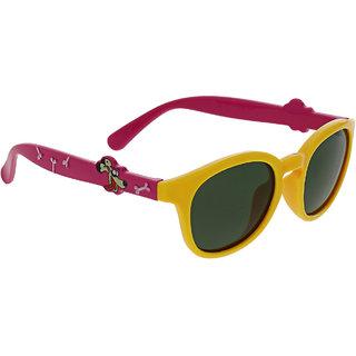 Vast Kids Yellow Non-Metal Stylish Sunglass KIDSANIMALCARTOONYELLOWPINKPOLARIZED
