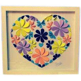Phanisha Handmade Paper Heart Frame