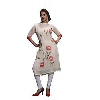 Kryptos Online Off White Colored Kurti.