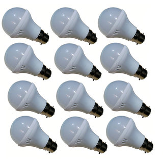 Bene 5W LED Bulb (White, Pack Of 12)
