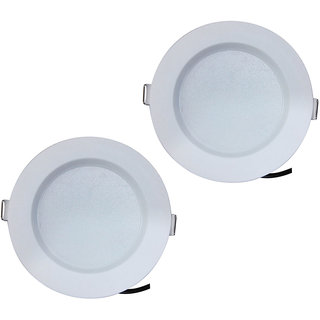 Bene LED 7w Round Ceiling Light, Color of LED Green (Pack of 2 Pcs)