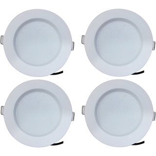 Bene LED 7w Round Ceiling Light, Color of LED Green (Pack of 4 Pcs)