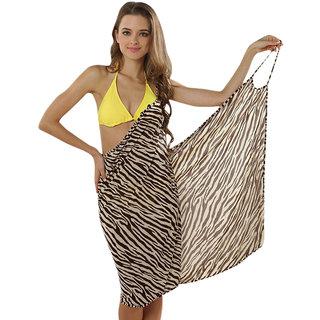 Glamorous Open Back, Wild Leopard Print Bikini Cover Up Wrap Dress