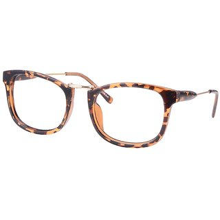 Buy Comfortsight Havana Gold Polycarbonate Metal Eye Glass Frame For