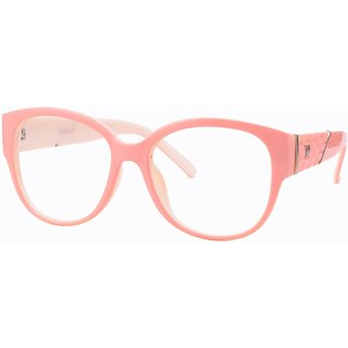 Buy Comfortsight Pink Polycarbonate Eye Glass Frame For Unisex