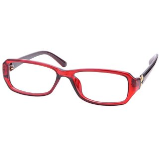 Buy Comfortsight Red Polycarbonate Eye Glass Frame For Women Cs9161